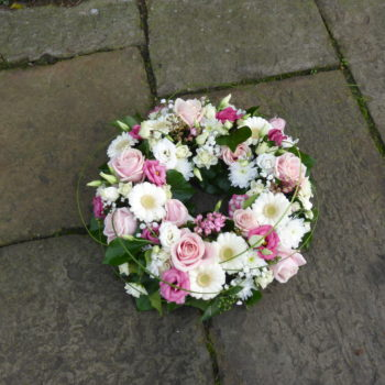 Pink and White Wreath Ring