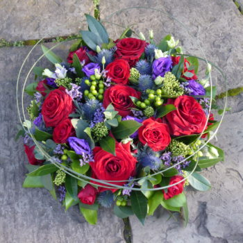 Ruby Red and Blue Posy (3)
