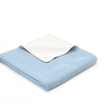 Throw Cotton Plain Blue