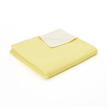 Throw Cotton Plain Yellow