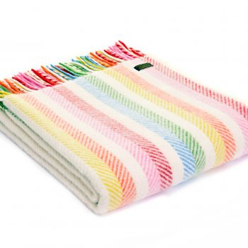 Throw Stripe Rainbow